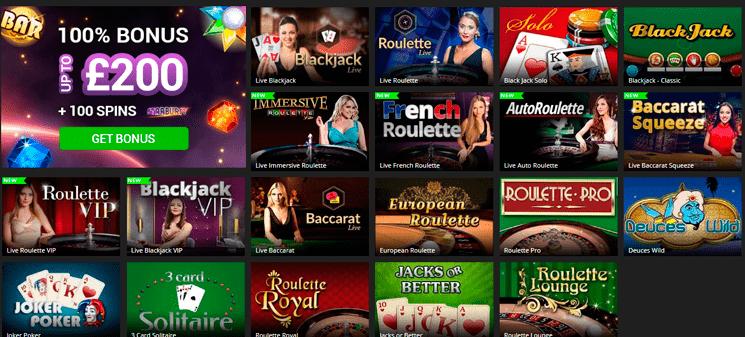 Barbados casino games and slots