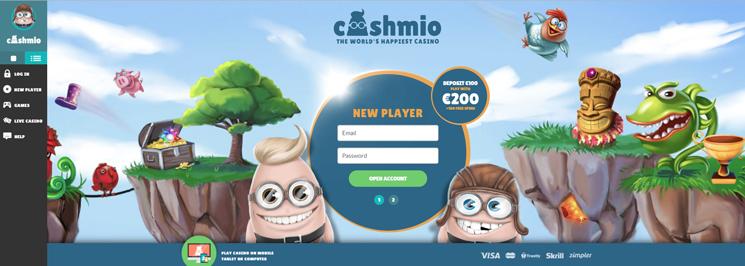 Cashmio Casino Site