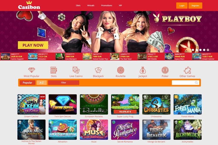 Casibon Casino Site Design