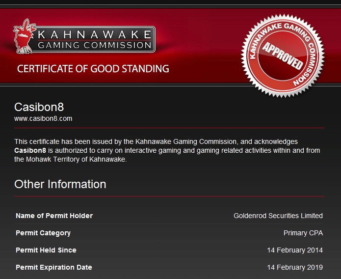 Casibon certificate of good standing