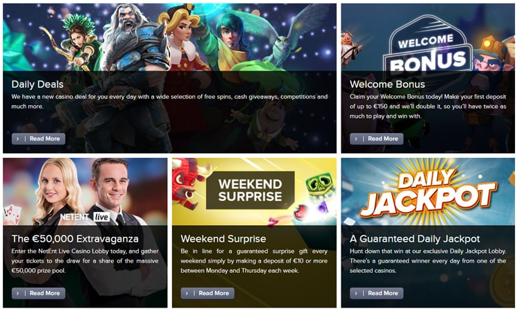 Casino Euro bonuses and deals