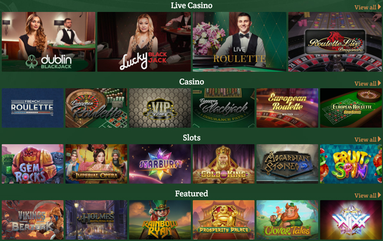 Dublinbet Casino Games and slots