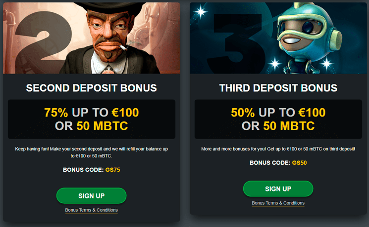 Golden Star casino deposit bonus