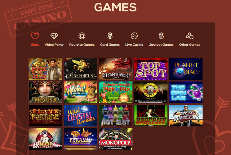 Queen Vegas slot machines and games