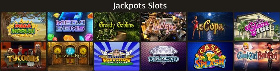Casino Extra Jackpots games