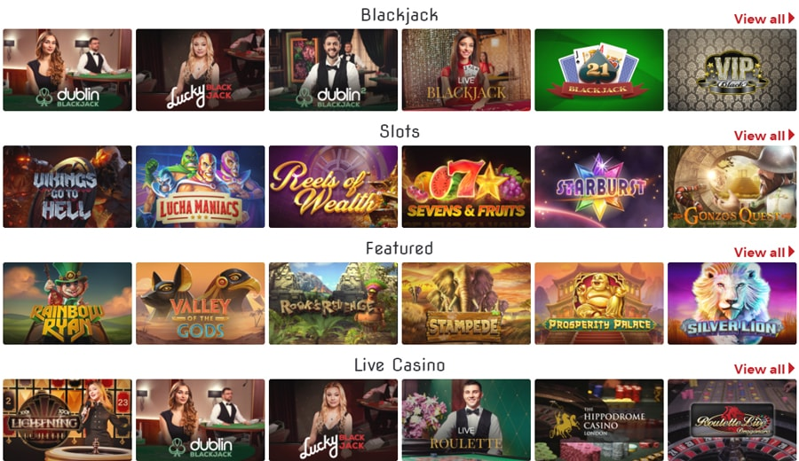 Lucky31 Casino Games and software