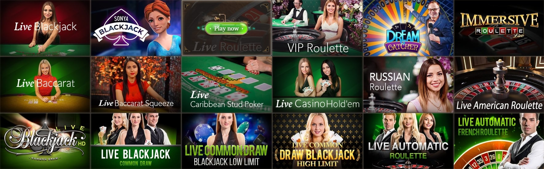 JoyCasino Games With Live Dealers