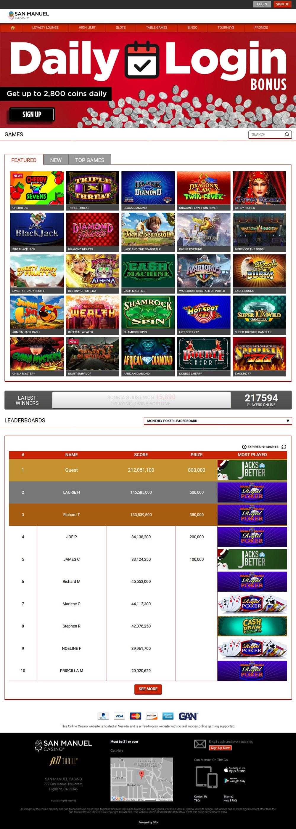 Play Free Slots Casino Games San Manuel Online