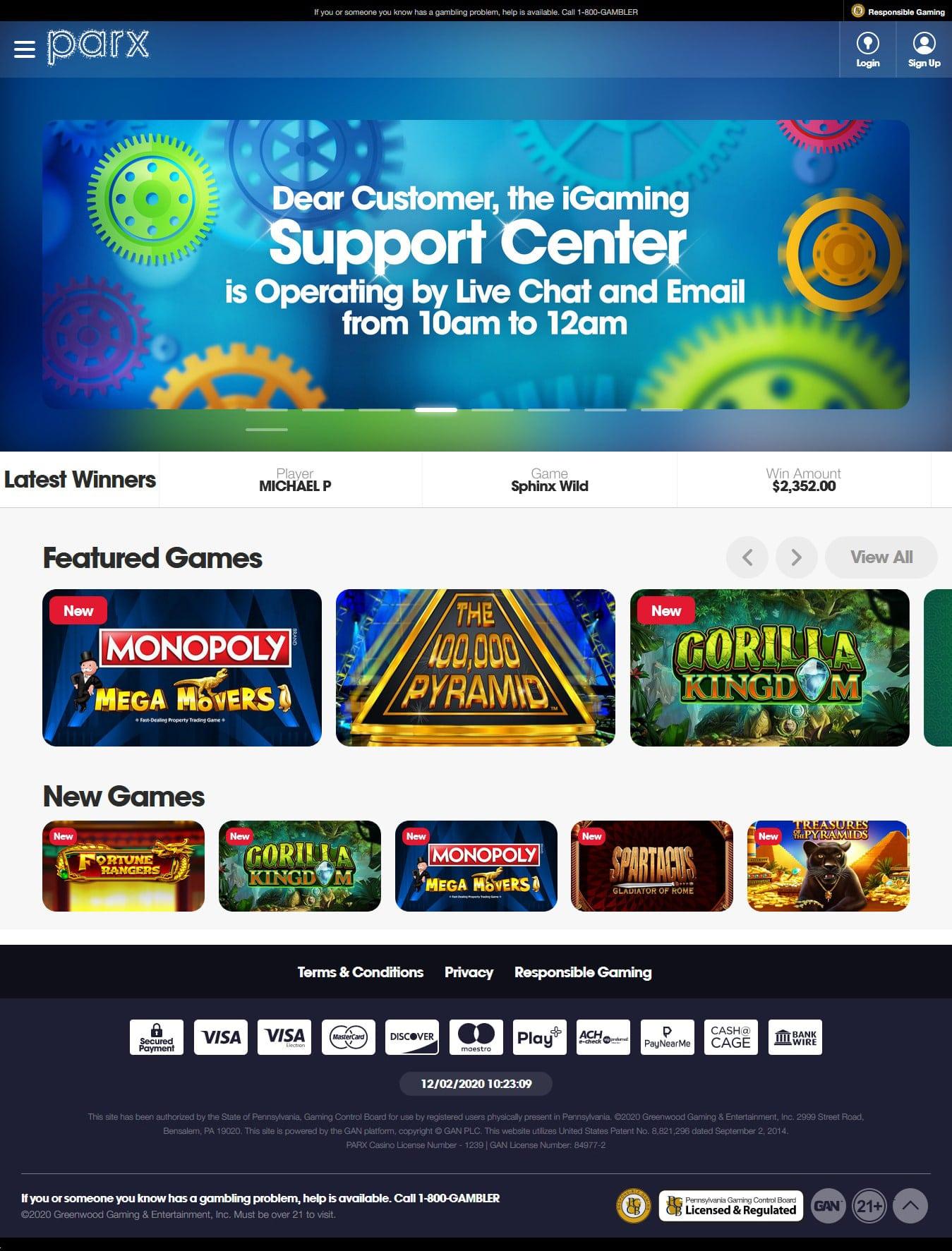 Online Casino Sportsbook Parx Casino