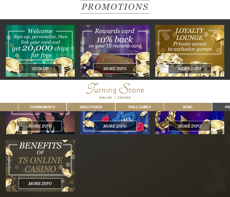 Our Promotions Turning Stone Online Casino